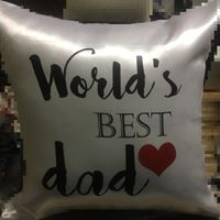 World's best dad cushion