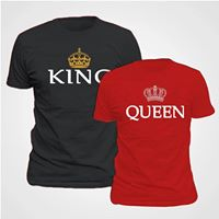 King and queen t shirts