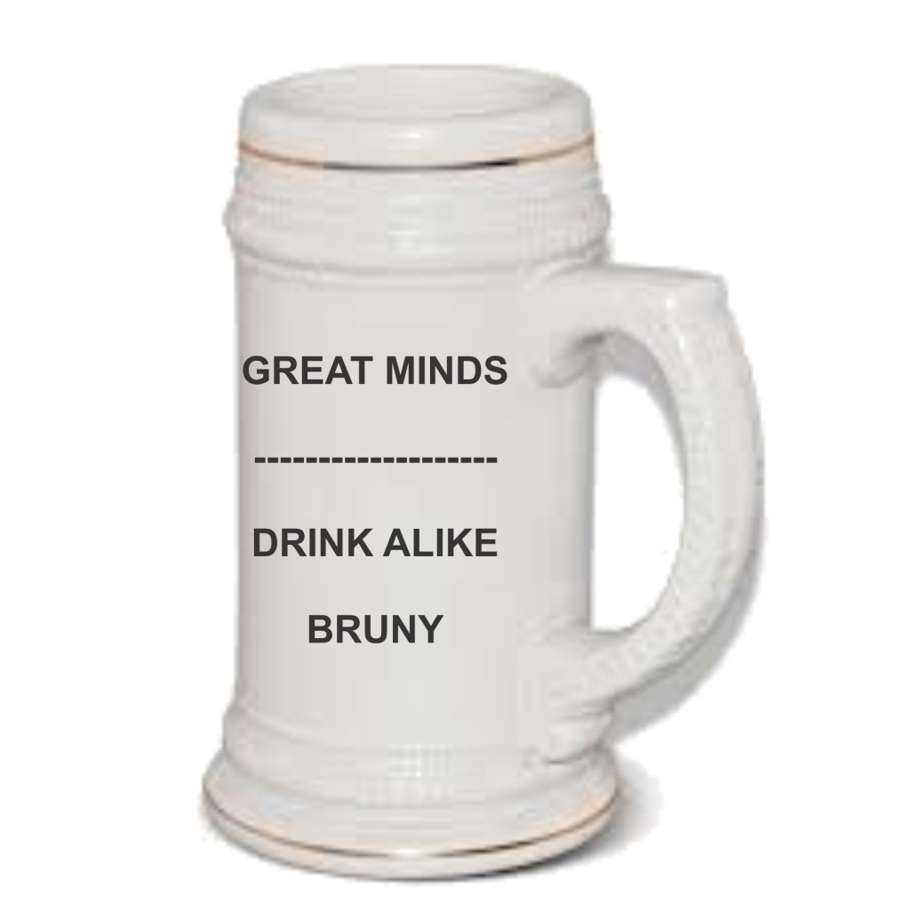 Geat minds beer mug