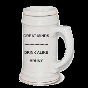 Geat minds beer mug