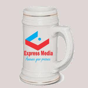 Express Media Beer Mug