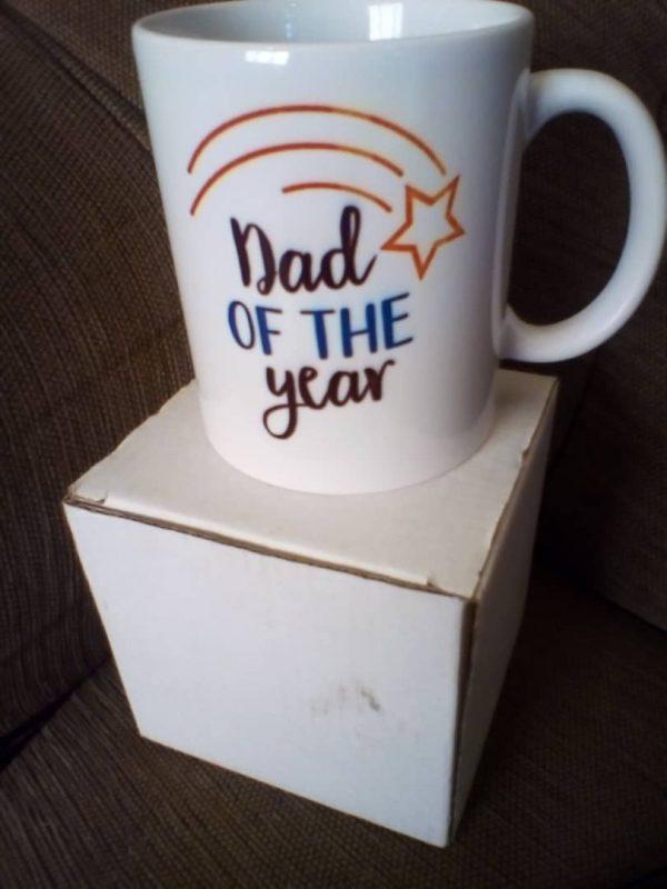 dad of the year mug