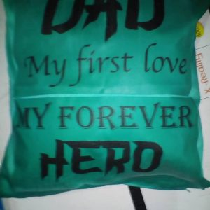 dad hero cushion