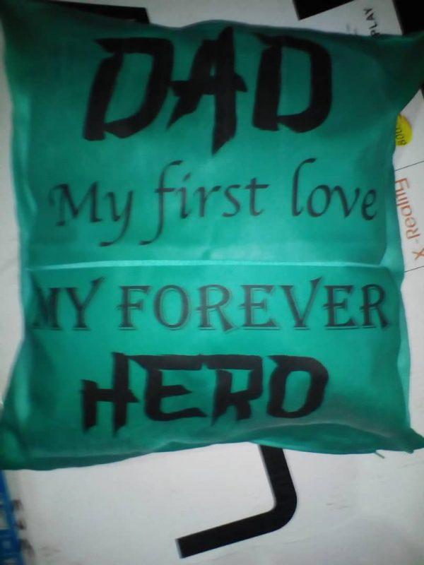 dad hero cushion