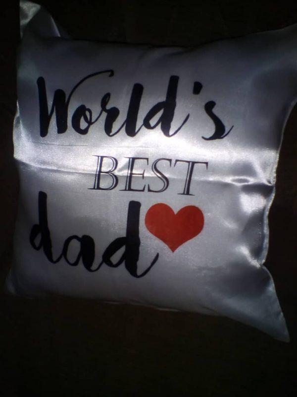 World's best dad cushion