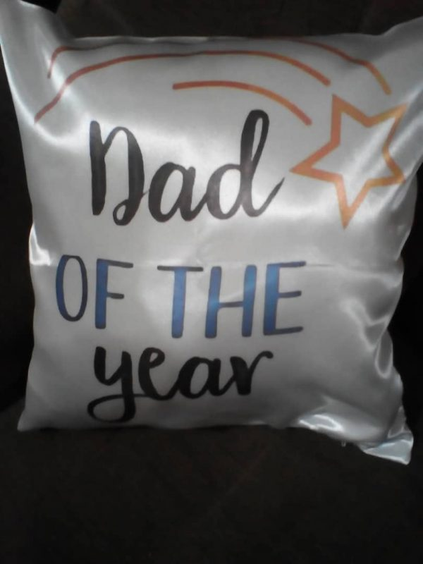 Dad of the year cushion