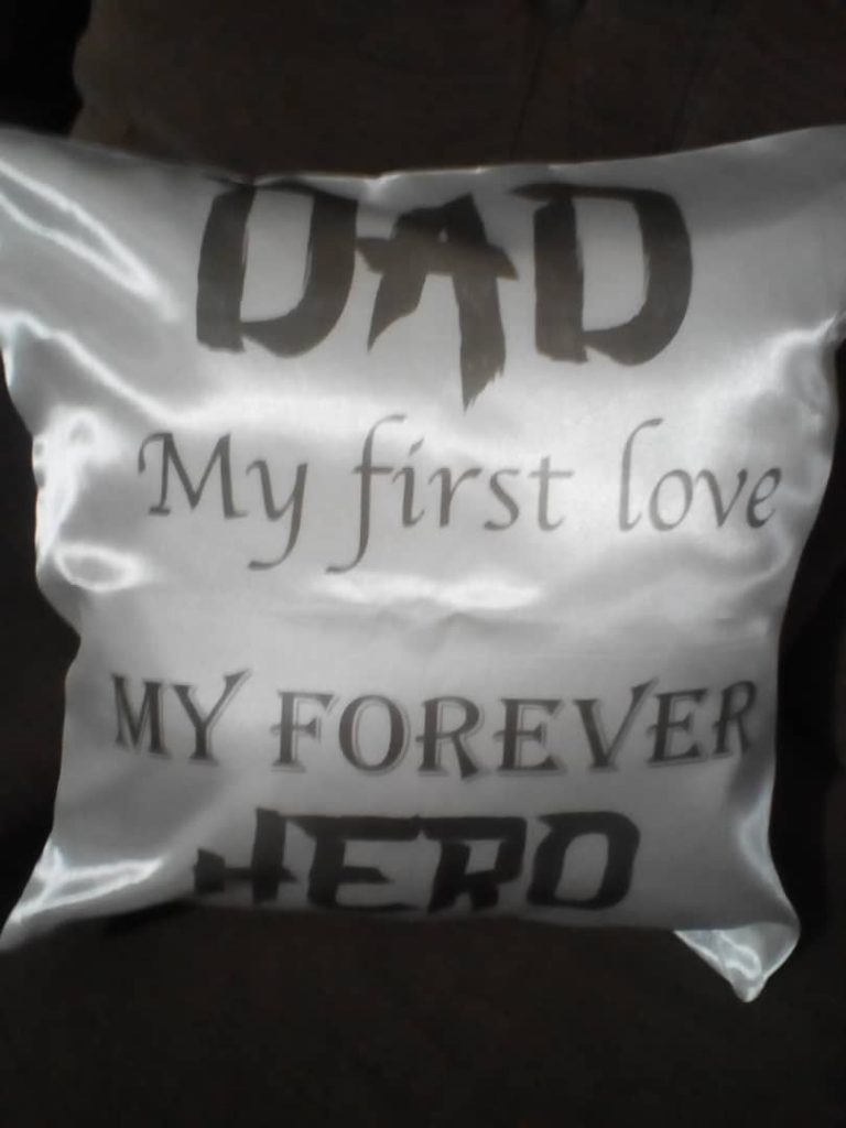 dad my first love cushion